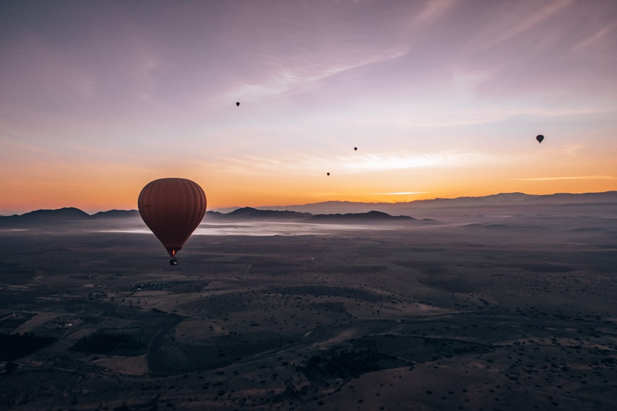 hot air balloon ride in marrakech