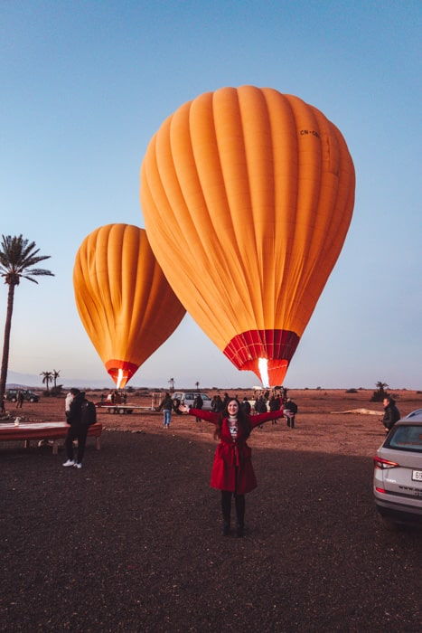 hot air balloons marrakech