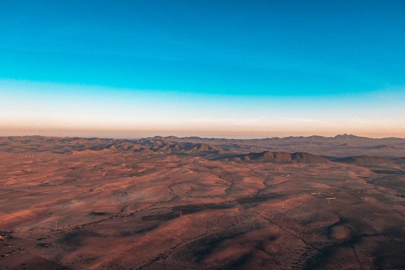 desert views from hot air balloon