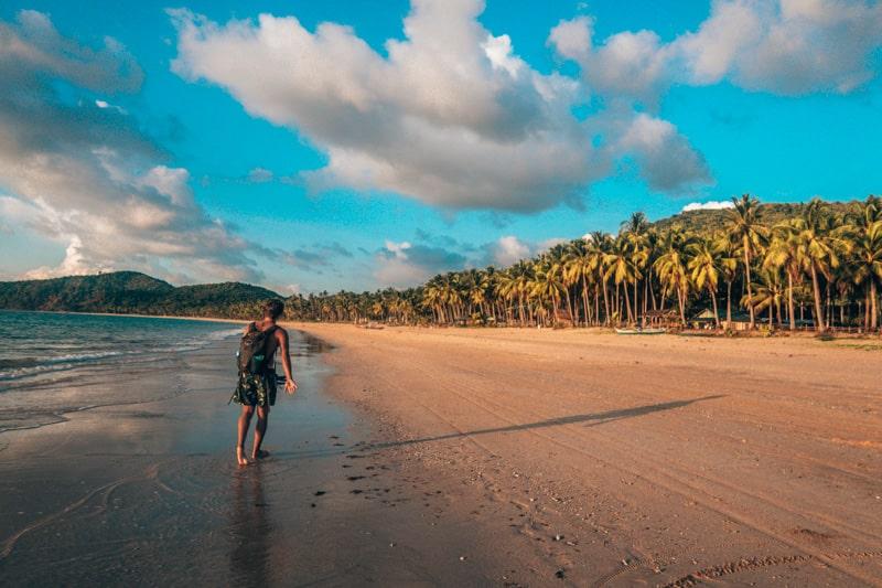 brad at nacpan beach el nido