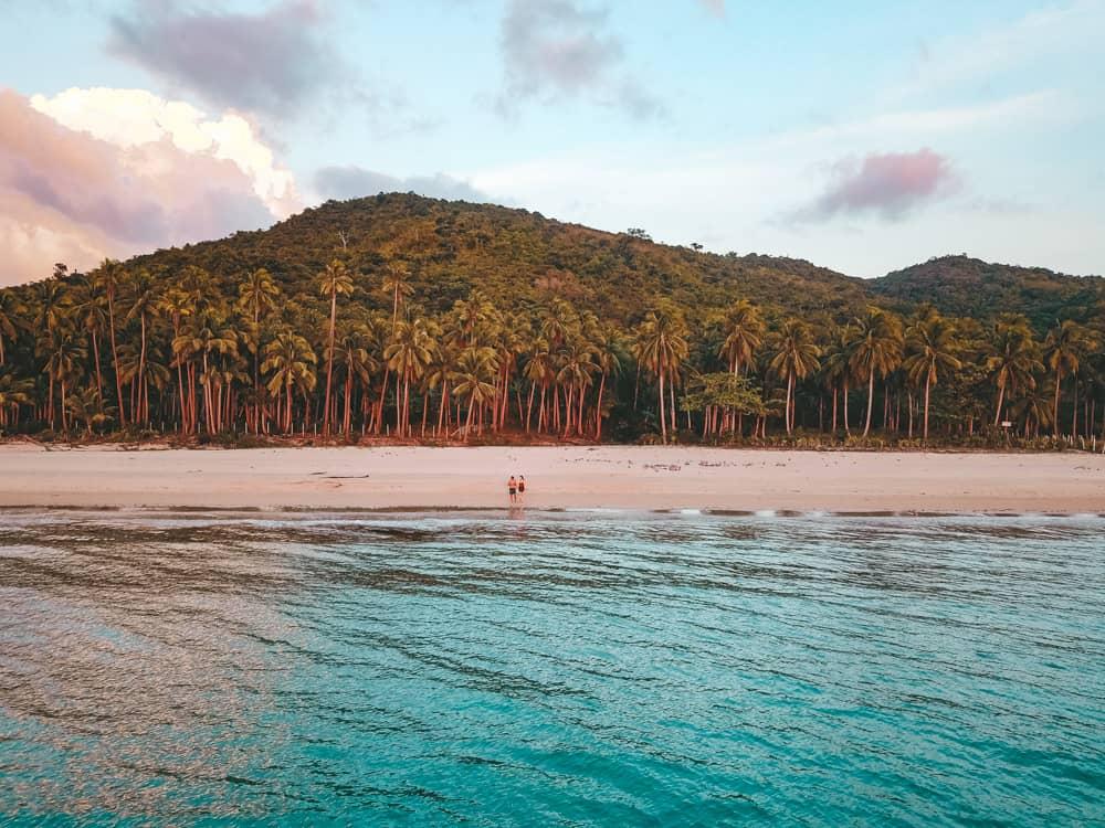 drone at nacpan beach