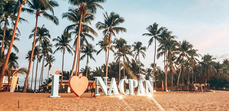 nacpan beach sign