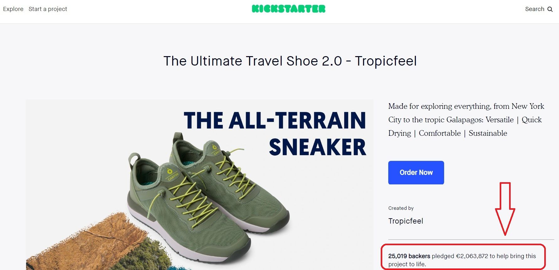 Tropicfeel shoes on Kickstarter
