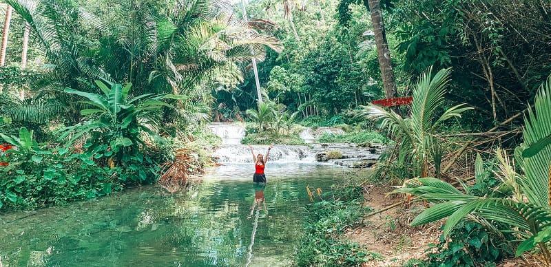 cazzy at Cambugahay Falls