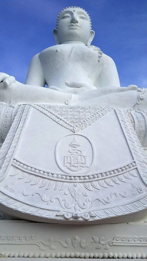 White Buddha statue Pai