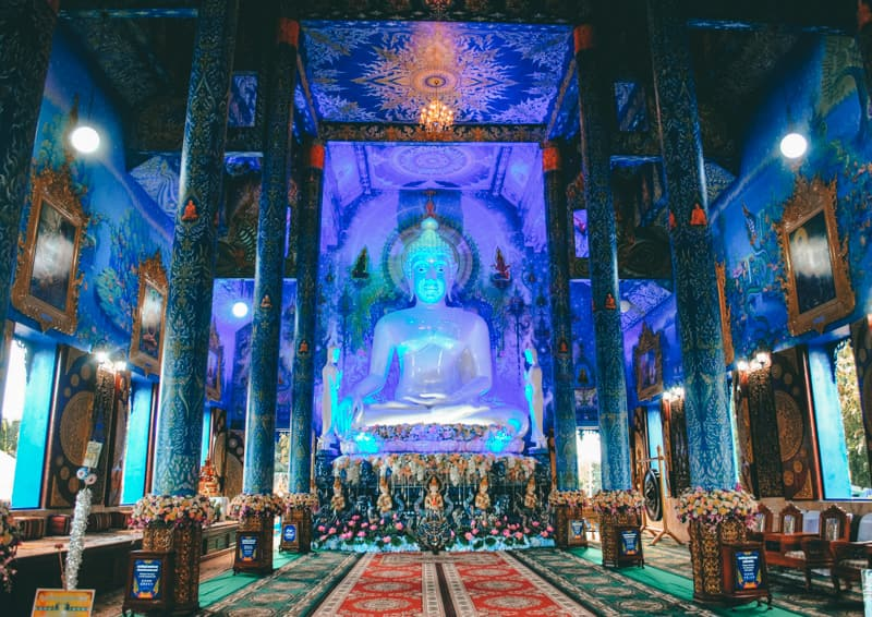 inside blue temple chiang rai