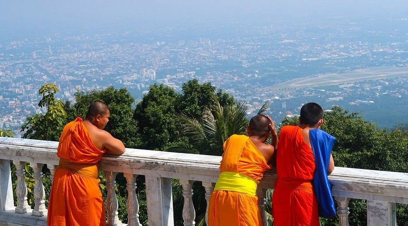 view of Chiang Mai from Doi Suthep temple