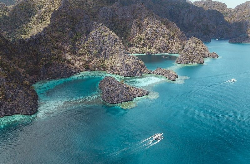 Coron Island from above