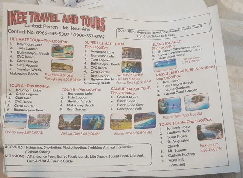 coron island tour prices