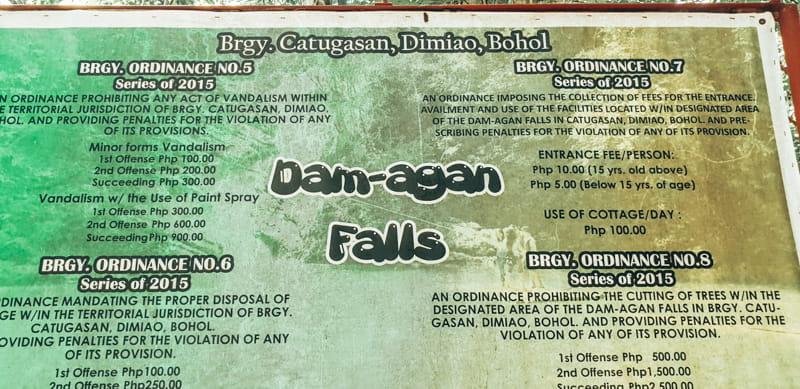 Dam-Agan falls