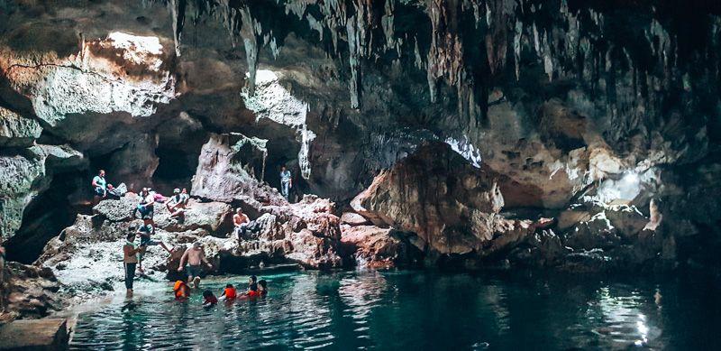 cave swimming in bohol