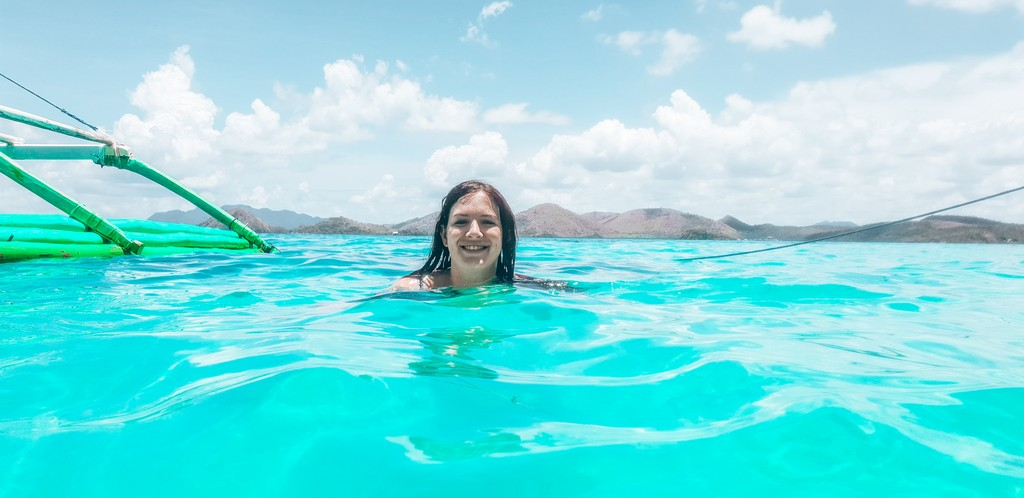 swimming in water in philippines