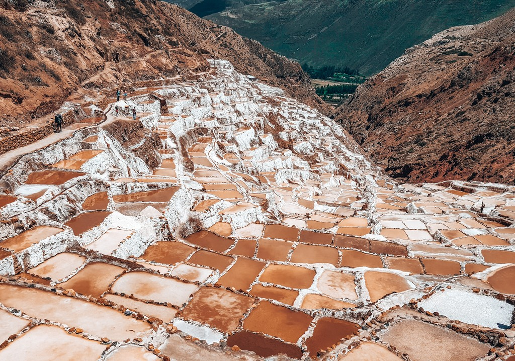 salt farms in peru