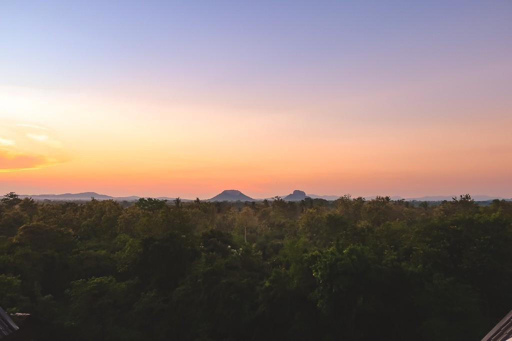 sunrise over sigiyria rock