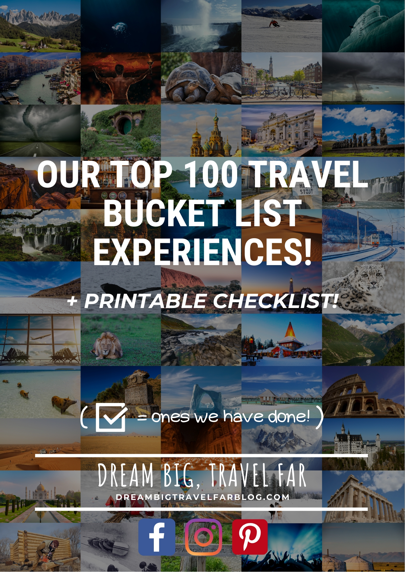 Travel bucket list cover
