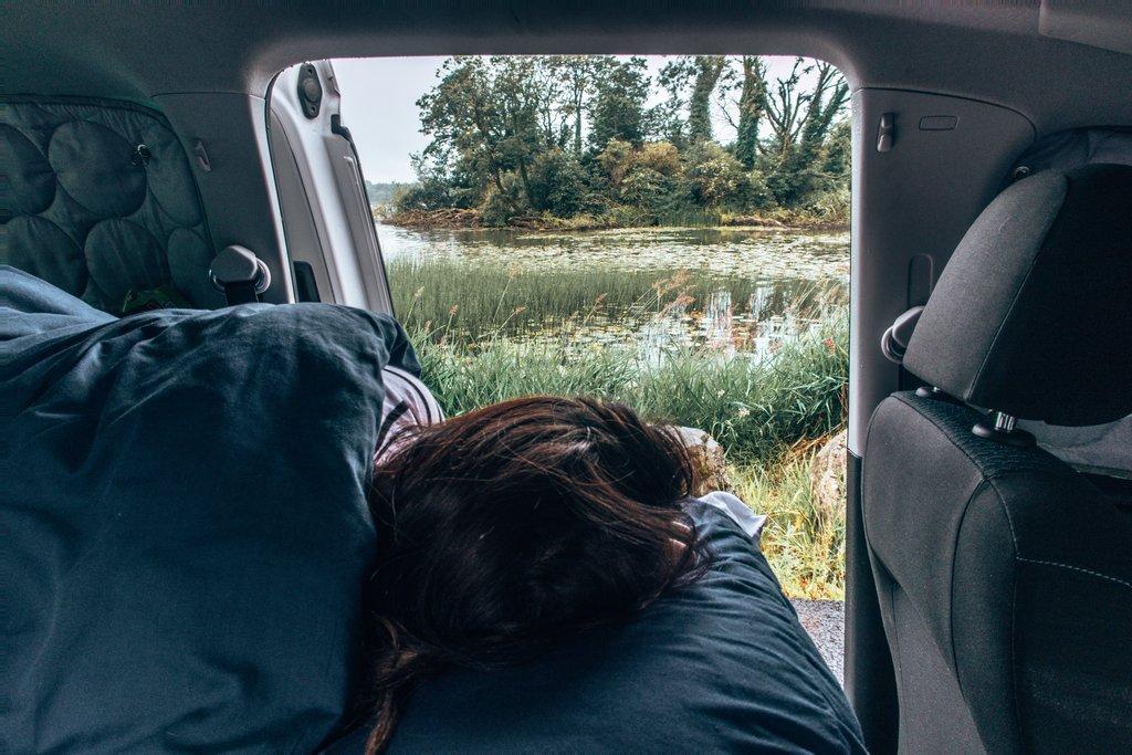 sleeping in a campervan