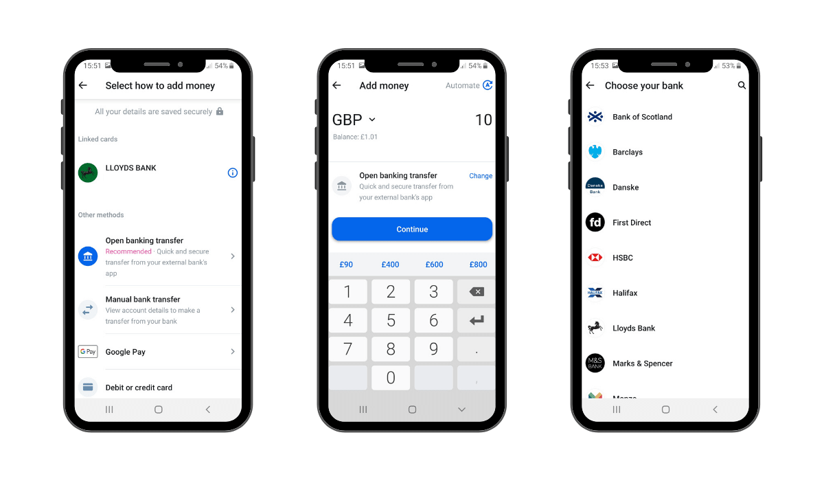 Adding money to Revolut