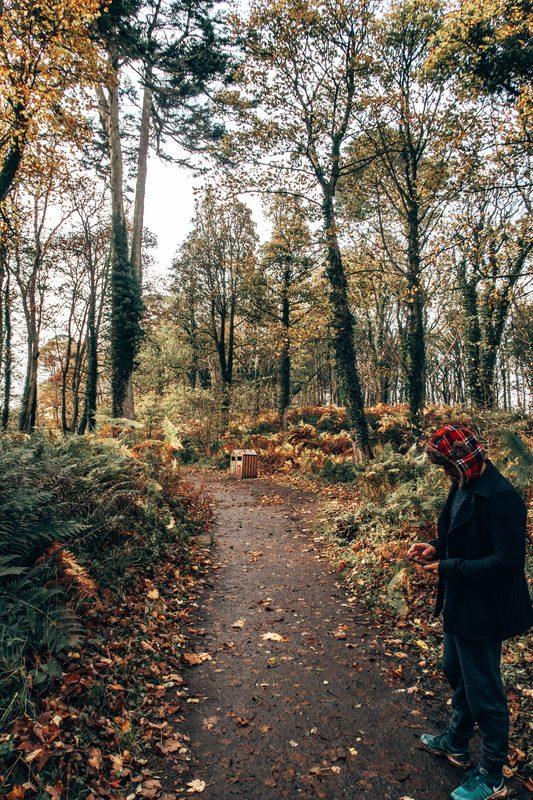 autumn walks in culzean castle scotland