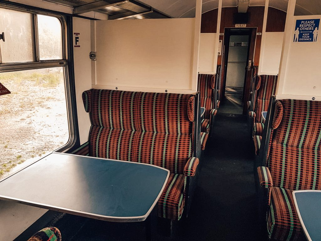 standard seating on jacobite steam train