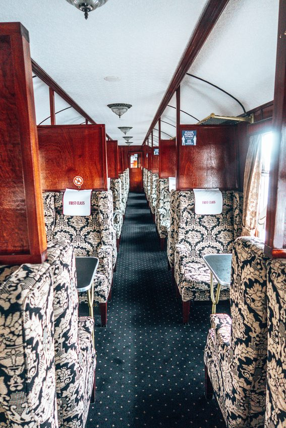 1st class carriage on harry potter express