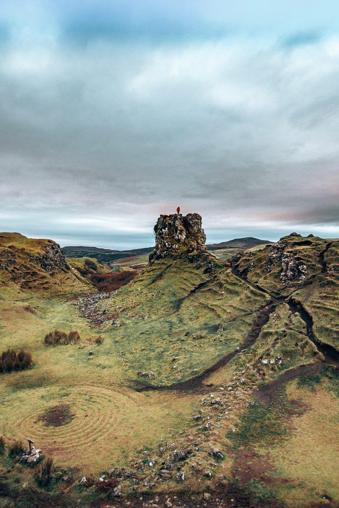 The fairy glen in isle of skye