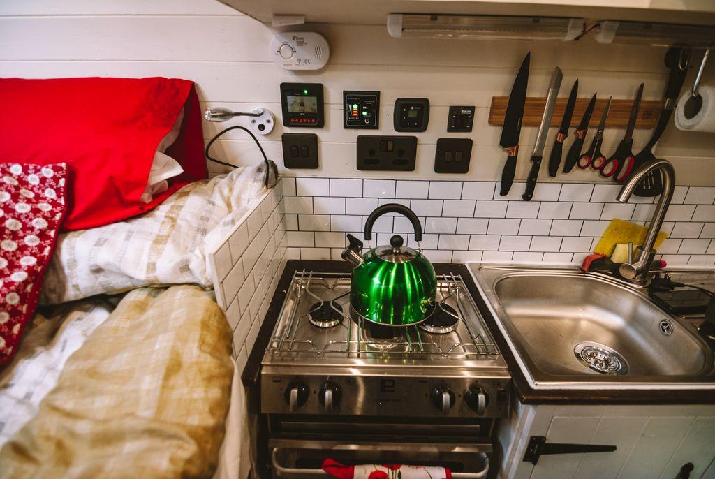 campervan oven finished