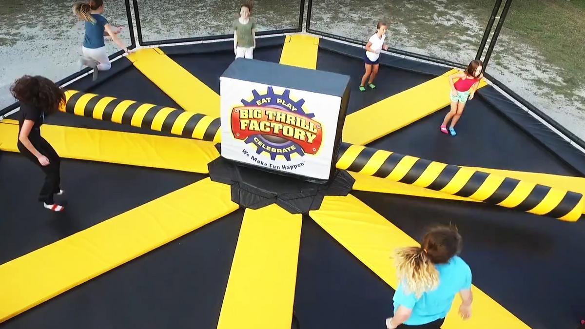 wipeout trampoline
