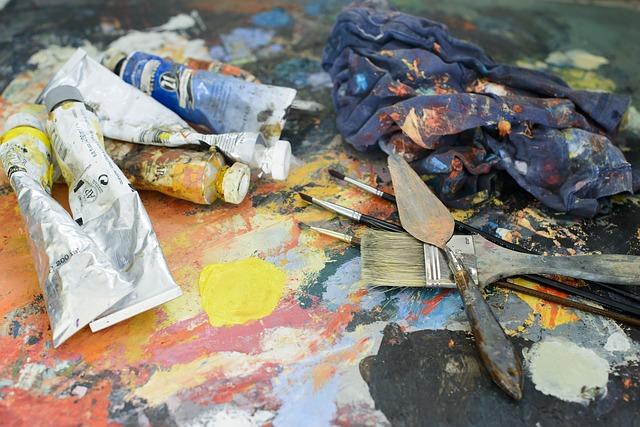 oil paint pallate