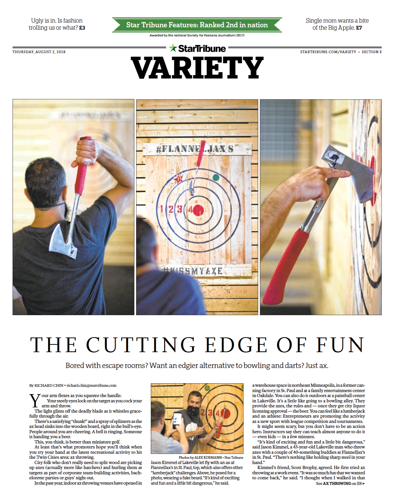 Star Tribune Axe Throwing Ax-perts