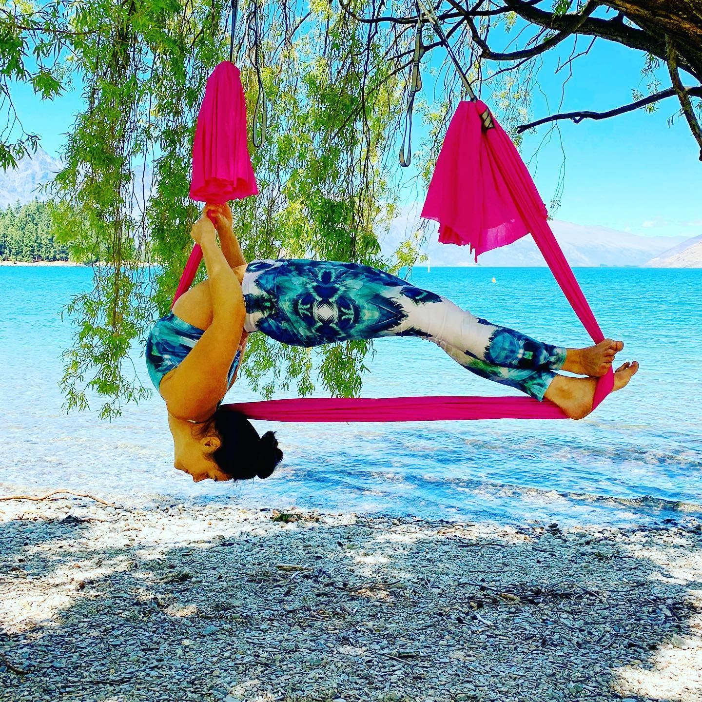 CamiYoga classes are based on the theme of Aerial Yoga