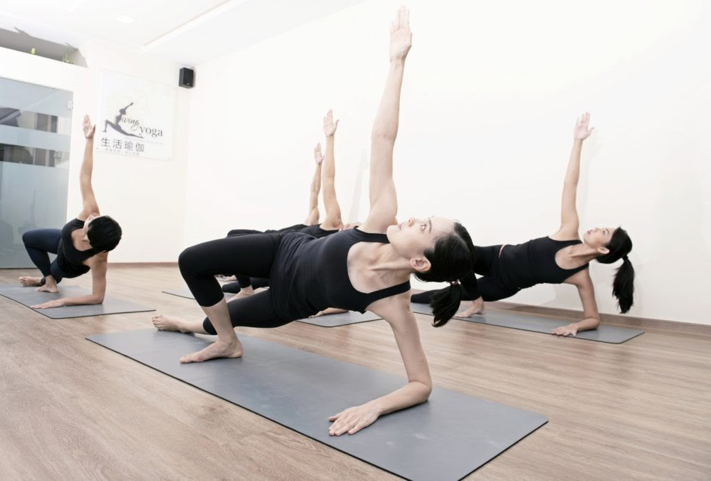 The theme for yoga classes at Living Yoga is balance