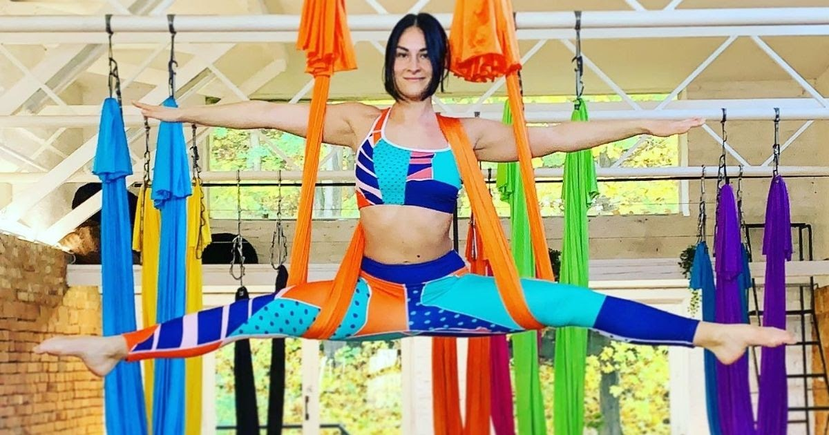 Classes at CamiYoga Studio are based on the theme of Aerial Yoga