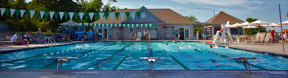 Old Lyme Country Club pool time on a summer day