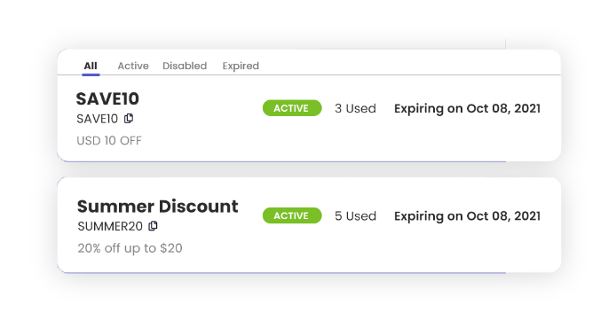 Create custom discount codes with Omnify