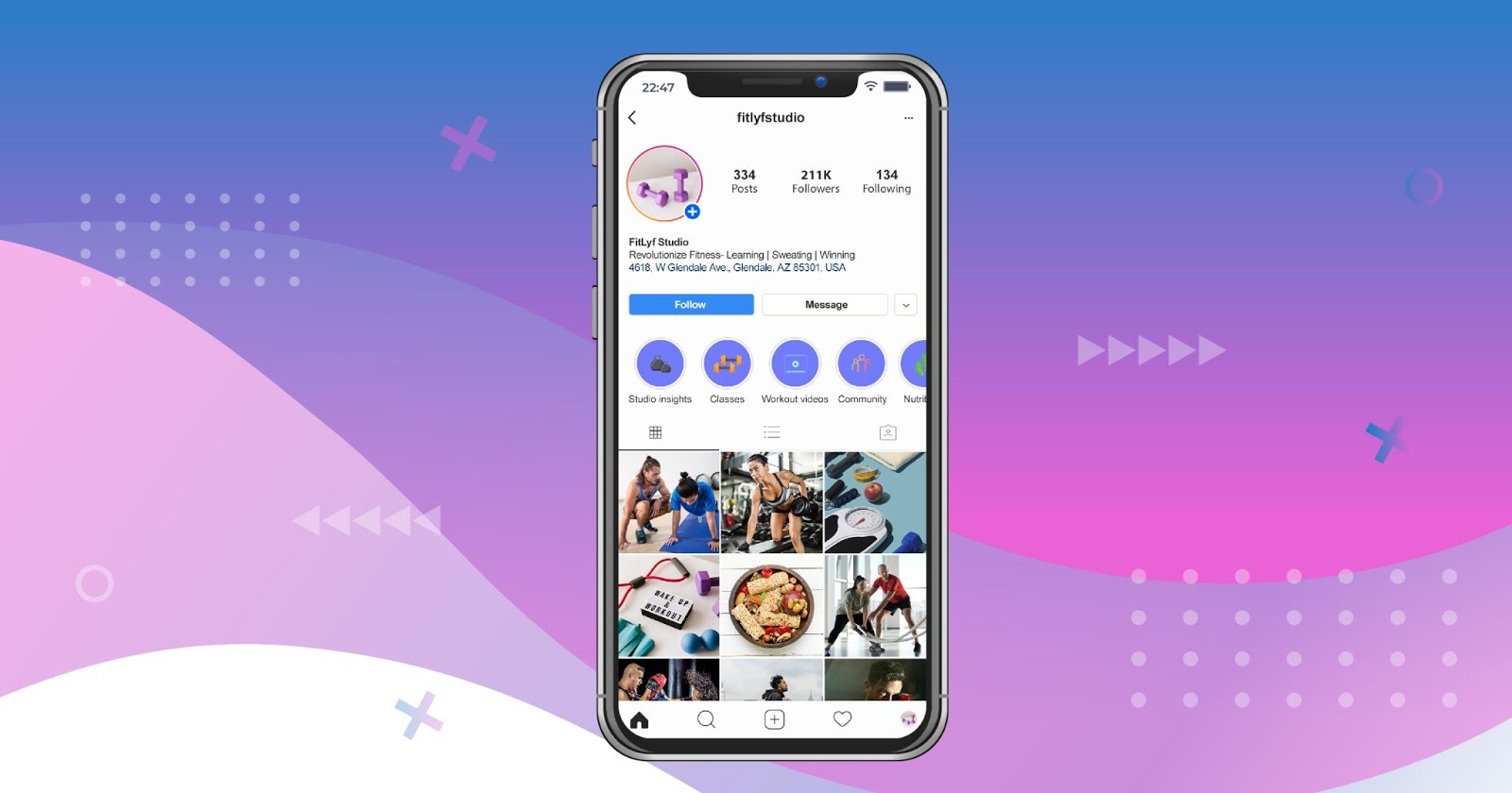 Ideas for Instagram story highlights for fitness professionals