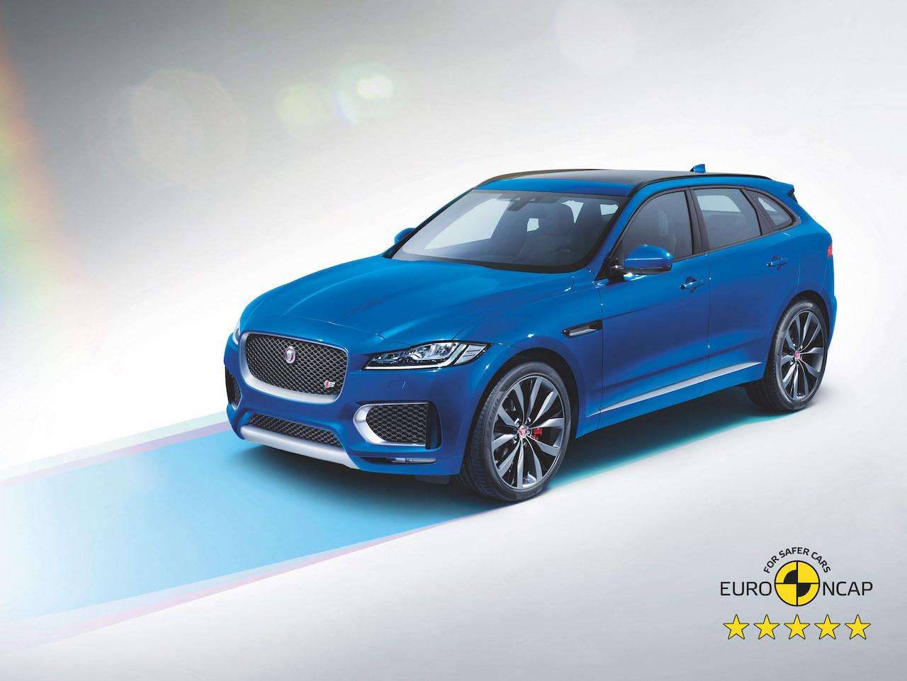 Jaguar F-Pace og E-Pace með 5 öryggisstjörnur hjá Euro NCAP