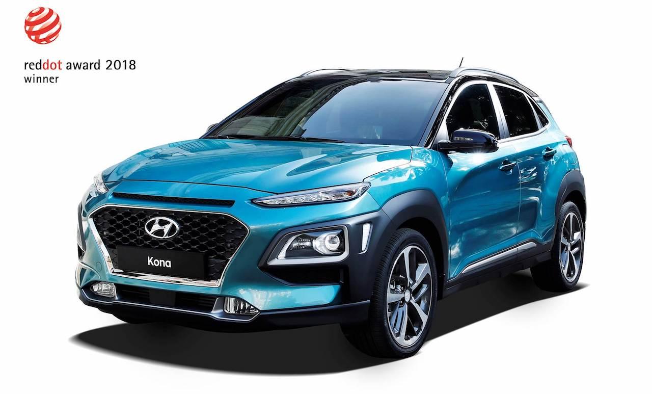 Hyundai KONA og NEXO handhafar Red Dot Design