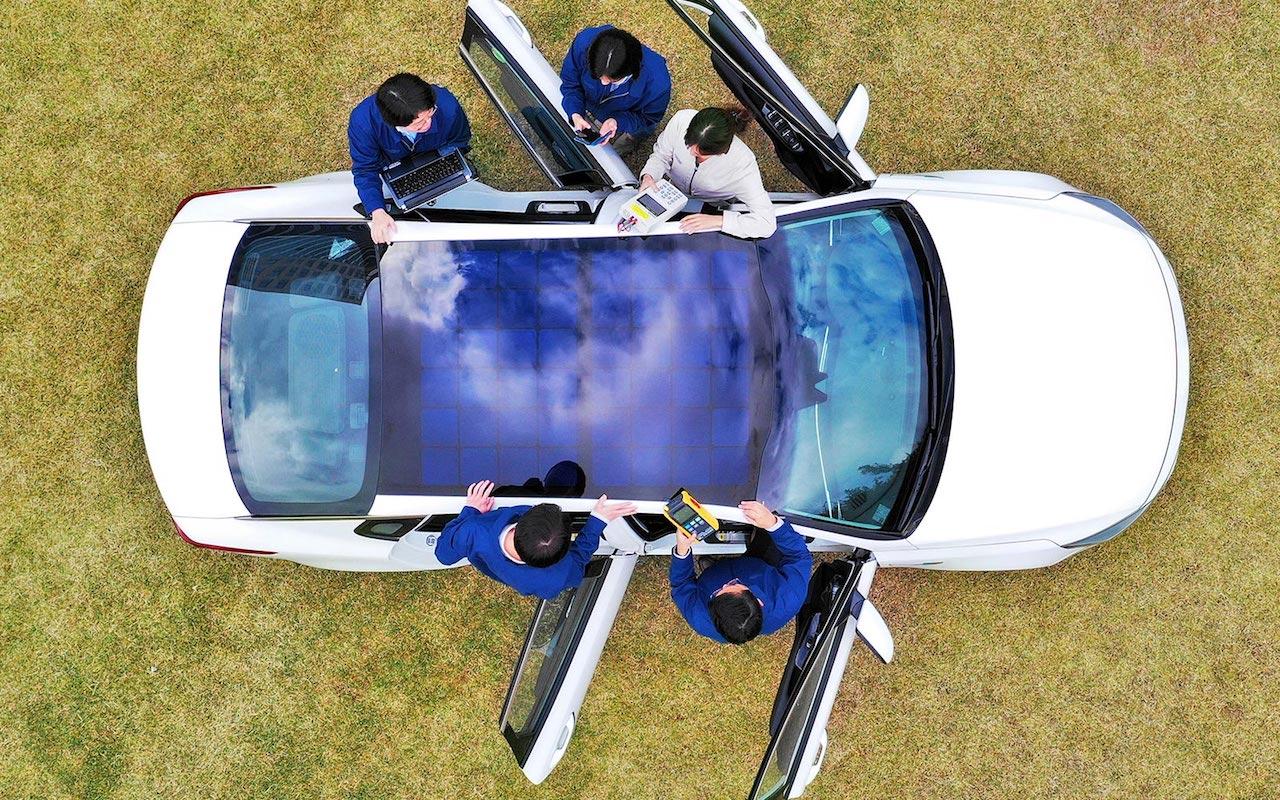 Sólarsellur á Hyundai – líka bensín- og dísilbíla