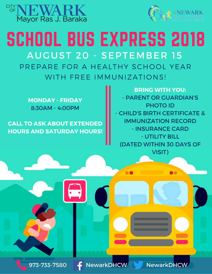 News City Of Newark Will Launch Annual School Bus Express