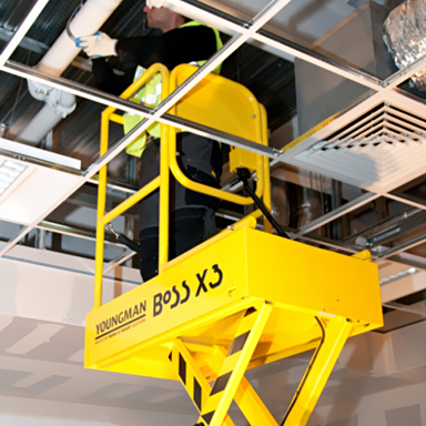 8ft Electric Mini Scissor Lift (Manual)