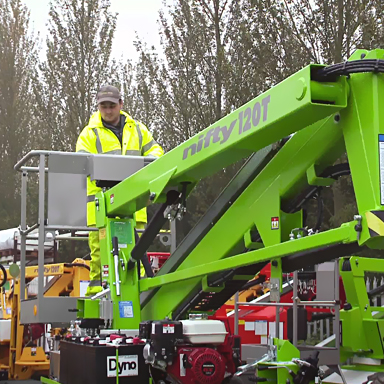 34ft Bi-Energy Trailer Mounted Boom Lift / Cherry Picker