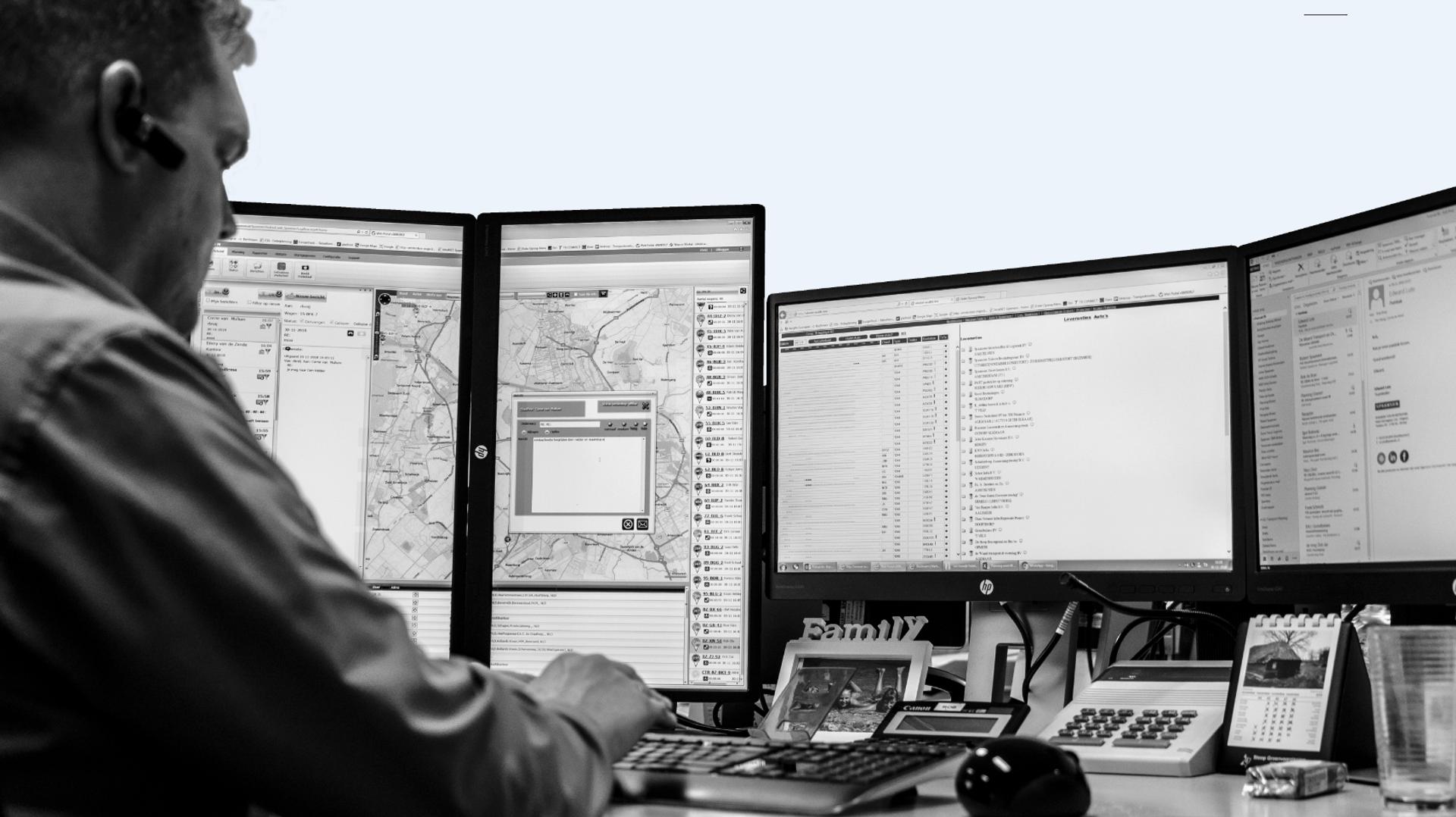 Logi-App boordcomputer Spaansen Grondstoffen en Logistiek
