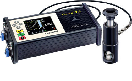 Photo of the PosiTest AT-A Automatic Adhesion Tester