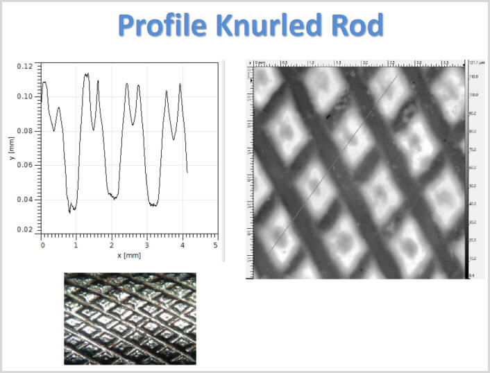 Image examples of Profile Knurled Rod