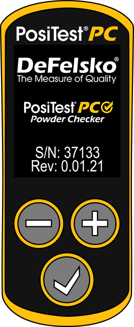 Image of keypad and display from PosiTest PC