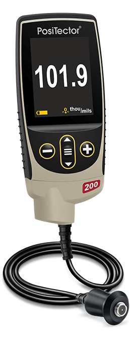 Product photo of the PosiTector 200, coating thickness gauge for non-metal substrates