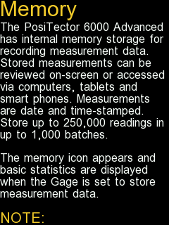 Screenshot of the help info provided for the Memory menu option in English