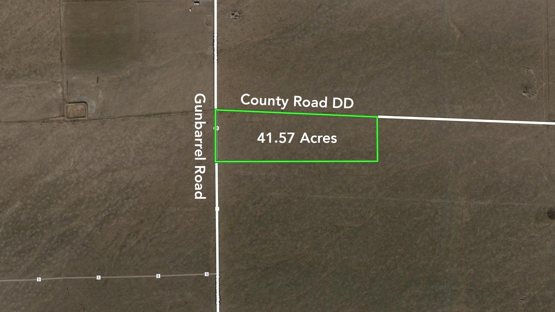 41.57 Acres at Corner of 2 County Roads