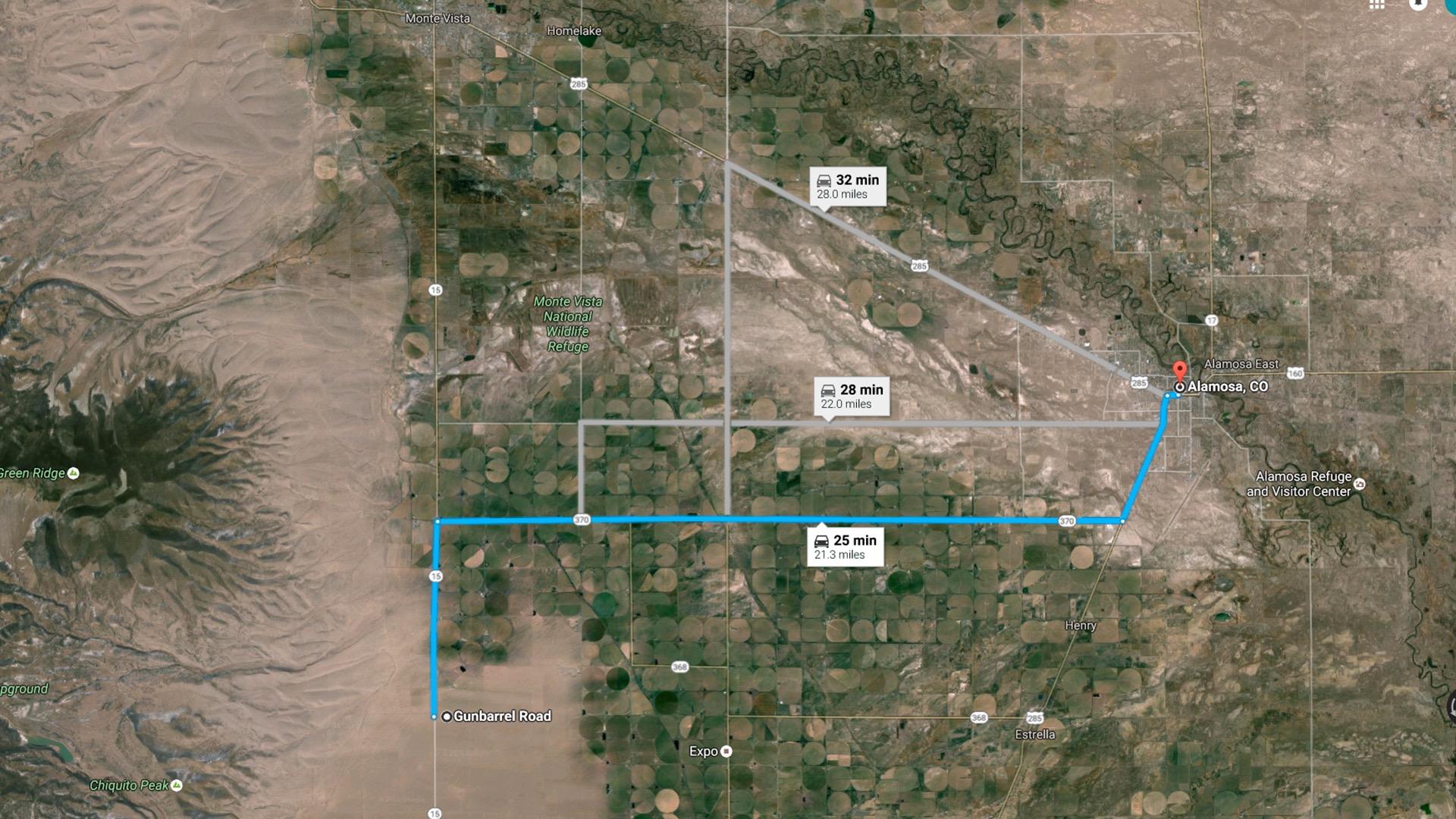 21 miles to Alamosa