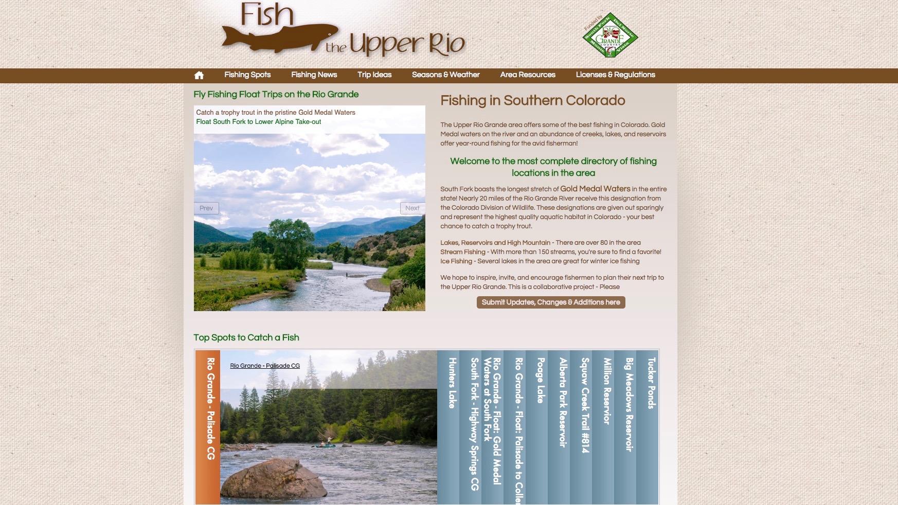 The Upper Rio Grande Fishing website